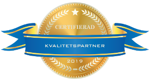 Certifierad Kvalitetspartner - Guldsigill - 2019